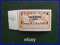 FRANCE 1929 N° 257A EXPO LE HAVRE Signé Brun Cote 1600 Voir Photos