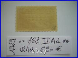 FRANCE 1929 SUPERBE N°262 II Ad NEUF signé UZAN COTE + 650 EUROS