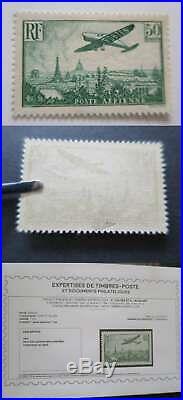 FRANCE 1936 POSTE AERIENNE n° 14 NEUF CERTIFICAT CALVES c 2000 /Cu293