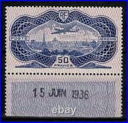 FRANCE AERIEN 15 AVION CAUDRON SIMOUN 50F BURELAGE ROSE 1936 NEUF x TTB V733