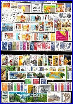 FRANCE- ANNEE 2008 Complète 200 Timbres NEUFSdu N° 4127 au N° 4323 LUXE MNH