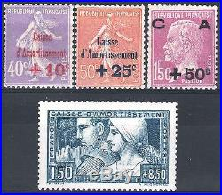 FRANCE ANNEE COMPLETE 1928 YVERT 249 / 252, 4 TIMBRES NEUFS xx LUXE M898B