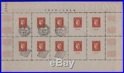 FRANCE BLOC FEUILLET 5 CITEX 1949 PARIS NEUF xx TB ET CACHETS EXPOSITION T090