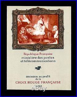 FRANCE CARNET CROIX ROUGE 2011a FRAGONARD 1962 2eme TIRAGE NEUF LUXE P523A