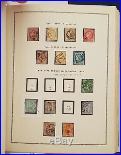 FRANCE COLLECTION TIMBRES NEUFS/OBLIT 1848-1981 dans album imprimé MOC (A VOIR)
