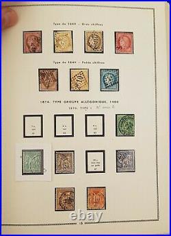 FRANCE COLLECTION TIMBRES NEUFS/OBLIT 1848-1981 sur pages pré-imprimées MOC