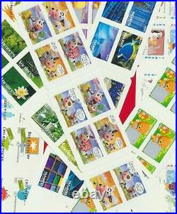 FRANCE FACIALE 200 TIMBRES PRIORITAIRES 20g SOIT 256 NEUF carnets Autocollant