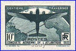 FRANCE N°321 TRAVERSEE AERIENNE DE L'ATLANTIQUE SUD, 10 F NEUF xTB