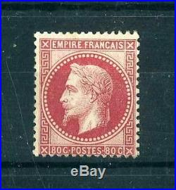 FRANCE N°32 80c ROSE NAPOLEON III NEUF xx TB A VOIR