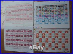 FRANCE N°4459/4472 Salon du timbre 2010 4 Feuilles Beaujard Boulazac tete beche
