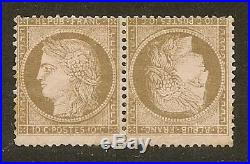 FRANCE N°58cCERES 10c BR S. ROSE PAIRE TETE BECHE NEUF