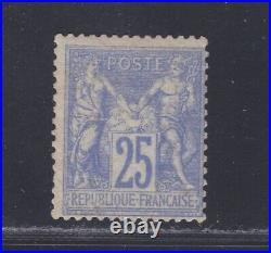 FRANCE N° 68 MLH Neuf charnière, signé Brun, type Sage. B/TB. Cote 11500