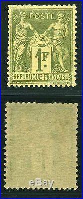 FRANCE N° 82 SAGE 1F OLIVE CLAIR NEUF xx TB, SIGNE