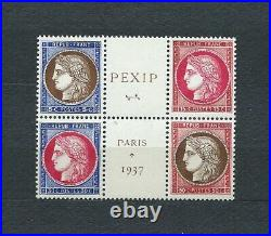 FRANCE PEXIP 1937 YT 348 à 351 TIMBRES NEUFS MNH LUXE