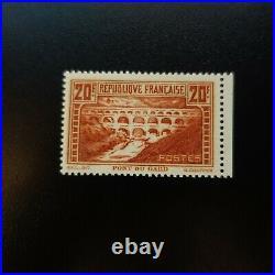 FRANCE PONT DU GARD N°262b TYPE IIB RIVIÈRE BLANCHE NEUF LUXE MNH COTE 625