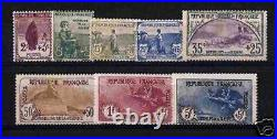FRANCE STAMP 1917-18 Y&T 148 / 155 SERIE ORPHELINS 8 TIMBRES NEUFS xx TTB