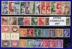 FRANCE STAMP ANNEE COMPLETE 1937 38 TIMBRES NEUFS xx TTB / LUXE VALEUR 998