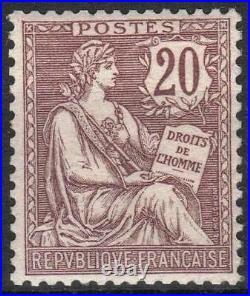 FRANCE STAMP TIMBRE 126 MOUCHON 20c BRUN LILAS 1902 NEUF xx TTB M036