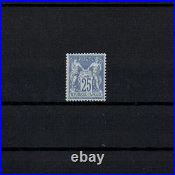 FRANCE STAMP TIMBRE 68 SAGE 25c OUTREMER TYPE I NEUF (x) TB RARE A VOIR V956