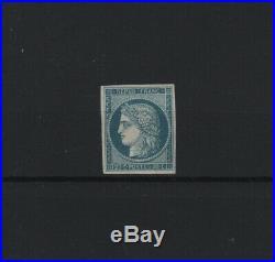 FRANCE STAMP TIMBRE 8f CERES 20c BLEU S. JAUNATRE DURRIEU 1862 NEUFxx TTB T940