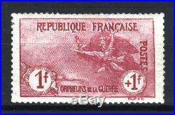 FRANCE STAMP TIMBRE N° 154 ORPHELINS 1F+1F LA MARSEILLAISE NEUF x TB R699