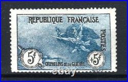 FRANCE STAMP TIMBRE N° 155 ORPHELINS LA MARSEILLAISE 5F+5F NEUF x TTB R581