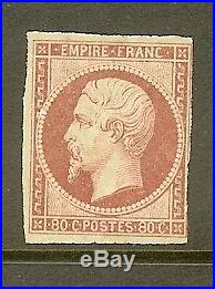 FRANCE STAMP TIMBRE N° 17b NAPOLEON 80c ROSE PALE 1859 NEUF x A VOIR