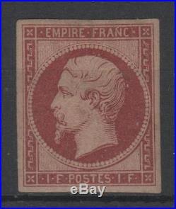 FRANCE STAMP TIMBRE N° 18 d NAPOLEON III 1F CARMIN 1862 NEUF xx TB RARE P351