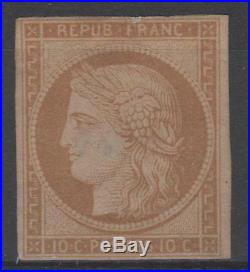 FRANCE STAMP TIMBRE N° 1 CERES 10c BISTRE- JAUNE 1850 NEUF (x) A VOIR N288
