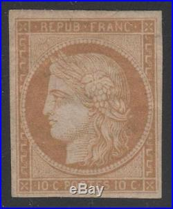 FRANCE STAMP TIMBRE N° 1 CERES 10c BISTRE- JAUNE 1850 NEUF x TB K404