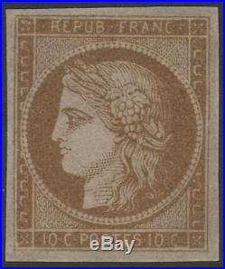 FRANCE STAMP TIMBRE N° 1 a CERES 10c BISTRE- BRUN 1850 NEUF xx A VOIR K034