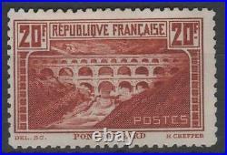 FRANCE STAMP TIMBRE N° 262B PONT GARD 20F CHAUDRON DENTELE 11 NEUFxx TTB K804