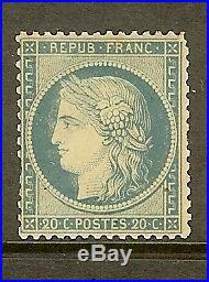 FRANCE STAMP TIMBRE N° 37b CERES 20c BLEU SIEGE DE PARIS 1870 NEUF x A VOIR