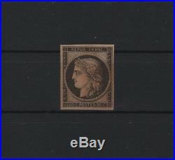 FRANCE STAMP TIMBRE N° 3 CERES 20c NOIR S. JAUNE 1849 NEUF xx TB A VOIR R871