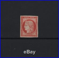 FRANCE STAMP TIMBRE N° 5 a CERES 40c ORANGE VIF 1850 NEUF x TB SIGNE R874