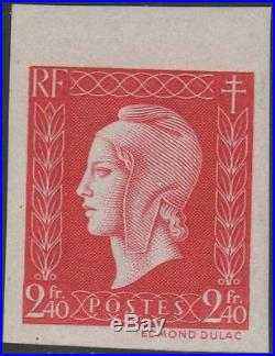 FRANCE STAMP TIMBRE N° 693 a MARIANNE DE DULAC 2F40 ROUGE ND NEUF xx TTB J852