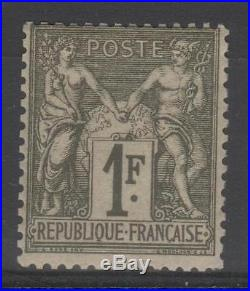FRANCE STAMP TIMBRE N° 72 SAGE 1F BRONZE 1876 NEUF xx TB RARE N727