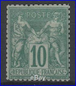 FRANCE STAMP TIMBRE N° 76 SAGE 10c VERT TYPE II 1876 NEUF x TB A VOIR N299