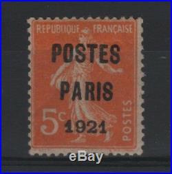 FRANCE STAMP TIMBRE PREOBLITERE N° 27 SEMEUSE 5c PARIS 1921 NEUF xx TB R779