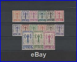 FRANCE STAMP TIMBRE SERVICE 1 / 15 SERIE FRANCISQUE 1943 NEUFS (x) TB K951
