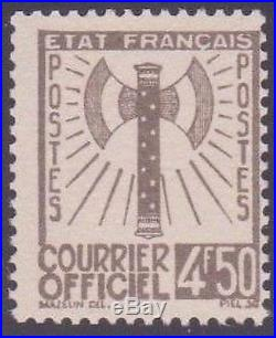 FRANCE STAMP TIMBRE SERVICE N° 11 FRANCISQUE 4F50 OLIVE NEUF xx TTB