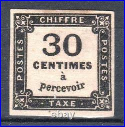 FRANCE STAMP TIMBRE TAXE 6 CHIFFRE TAXE 30c NOIR NEUF x TB A VOIR P668