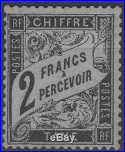 FRANCE STAMP TIMBRE TAXE N° 23 TYPE DUVAL 2F NOIR NEUF xx TTB SIGNE K588
