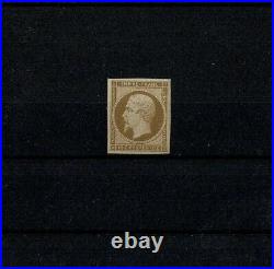 FRANCE STAMP TIMBRE YVERT N° 13 A NAPOLEON III 10c BISTRE NEUF xx TTB W169