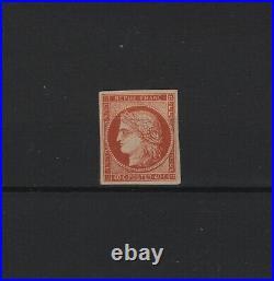 FRANCE STAMP TIMBRE YVERT N° 5 g CERES 40c ORANGE 1862 NEUF x TB V092