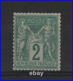 FRANCE STAMP TIMBRE YVERT N° 74 TYPE SAGE 2c VERT 1876 NEUF xx TTB T733