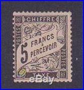 FRANCE TAXE 1881-92 Y&T 24 TYPE DUVAL 5F, NEUFxTB RARE