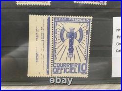 FRANCE TIMBRE SERVICE 1 à 15 SERIE FRANCISQUE 1943 NEUFS LUXE (179)