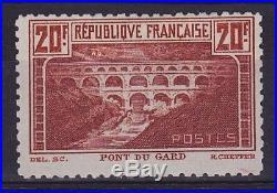 FRANCE YT 262B 20fr Pont du Gard Dentelé 11 Neuf