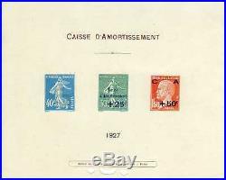 FRANCE YVERT n° 246/248 Epreuve de Luxe